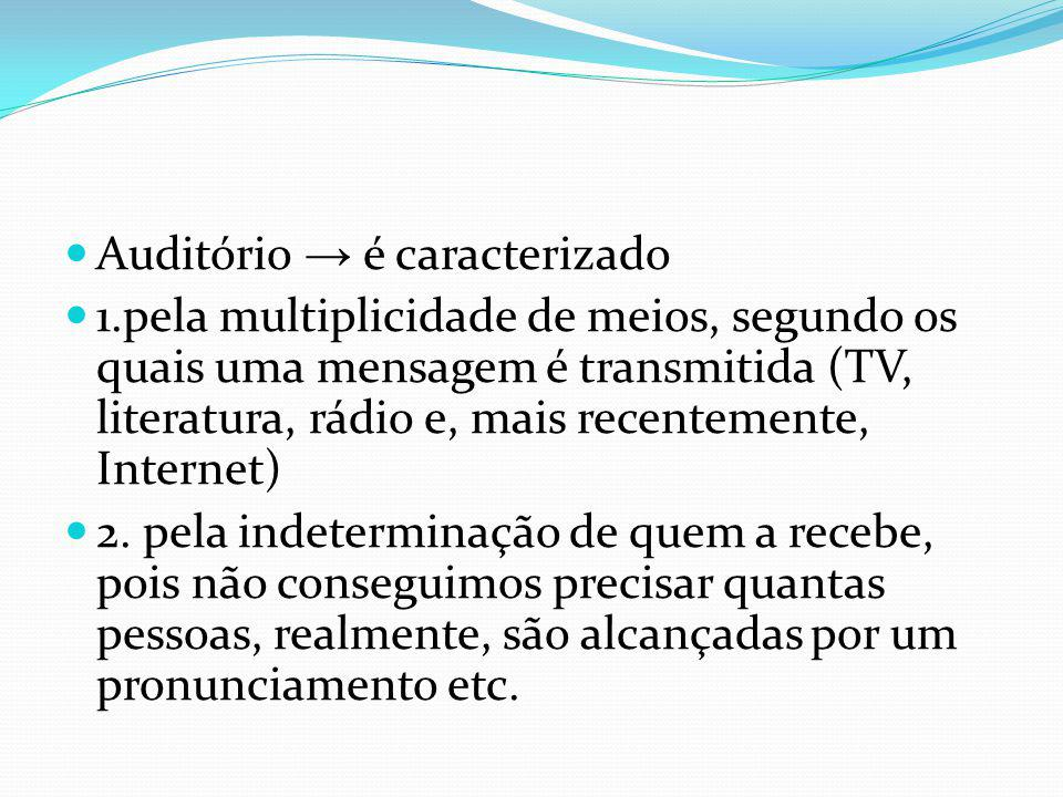 Auditório → é caracterizado