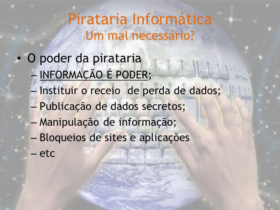 Pirataria Informática Um mal necessário