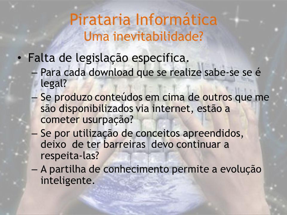 Pirataria Informática Uma inevitabilidade