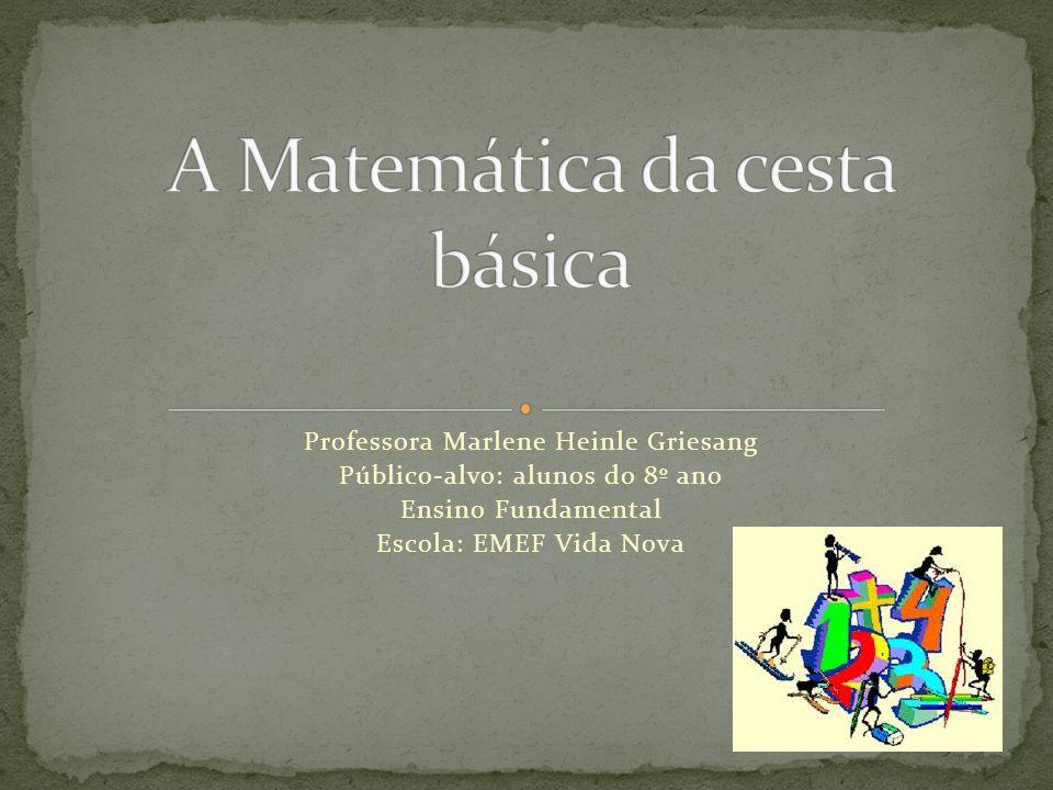A Matemática da cesta básica