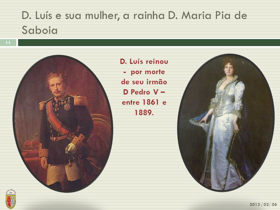 D. Luís e sua mulher, a rainha D. Maria Pia de Saboia