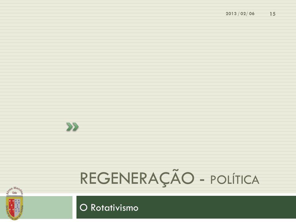 Regeneração - política