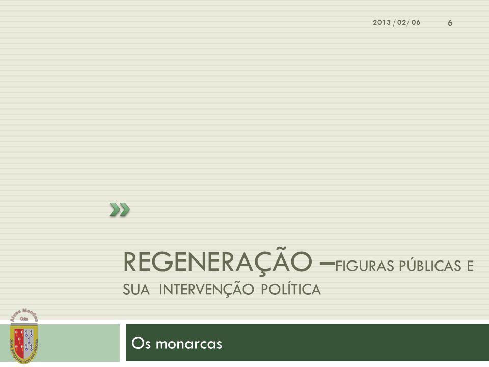 Regeneração –Figuras públicas e sua intervenção política