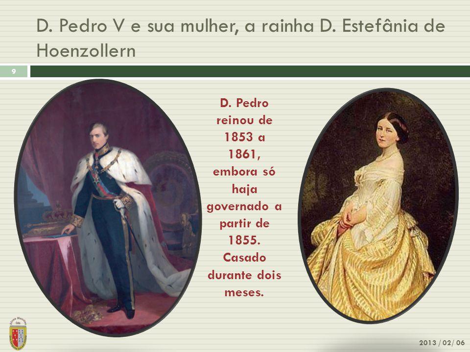 D. Pedro V e sua mulher, a rainha D. Estefânia de Hoenzollern