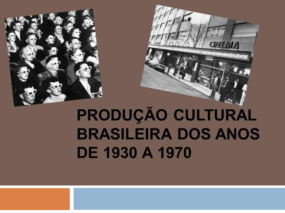 Produção cultural brasileira dos anos de 1930 a 1970