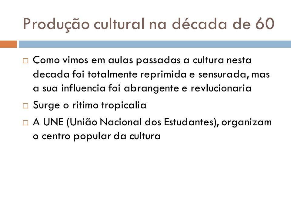 Produção cultural na década de 60