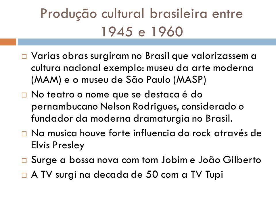Produção cultural brasileira entre 1945 e 1960