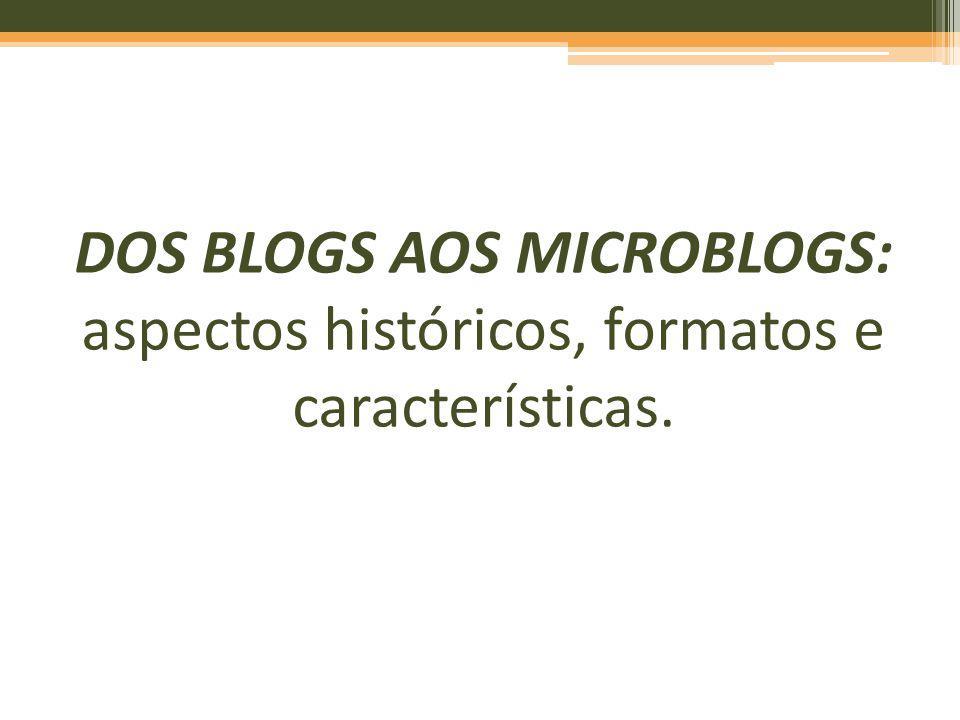 DOS BLOGS AOS MICROBLOGS: