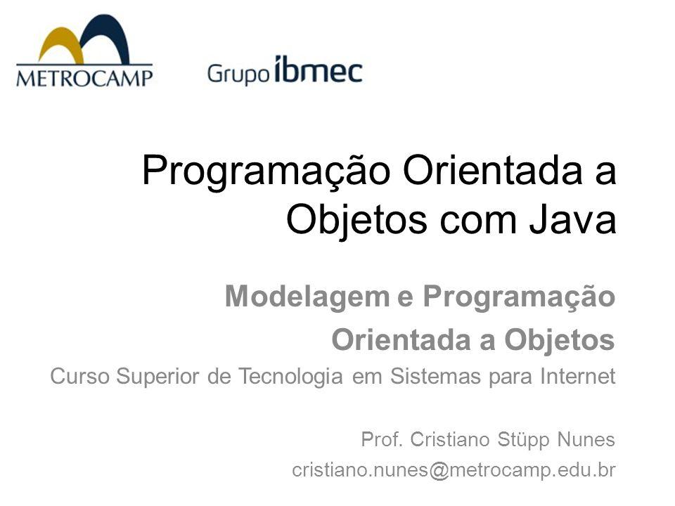 Programação Orientada a Objetos com Java