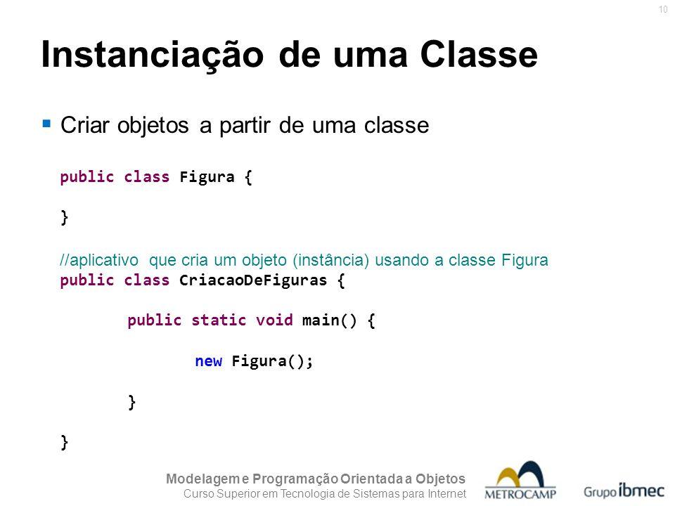 Instanciação de uma Classe