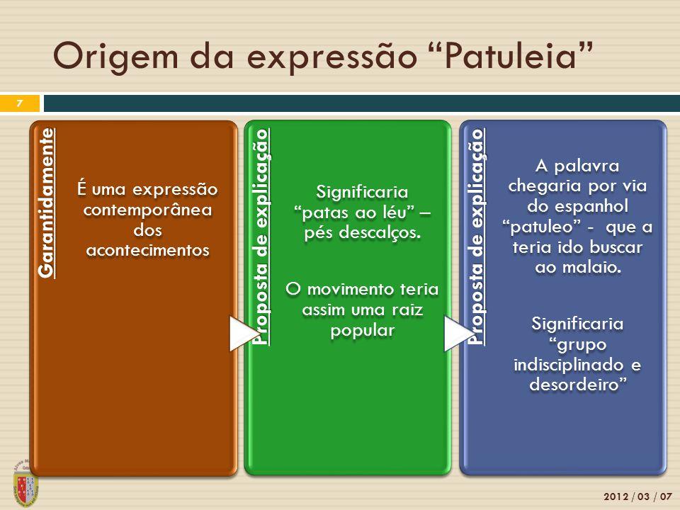 Origem da expressão Patuleia
