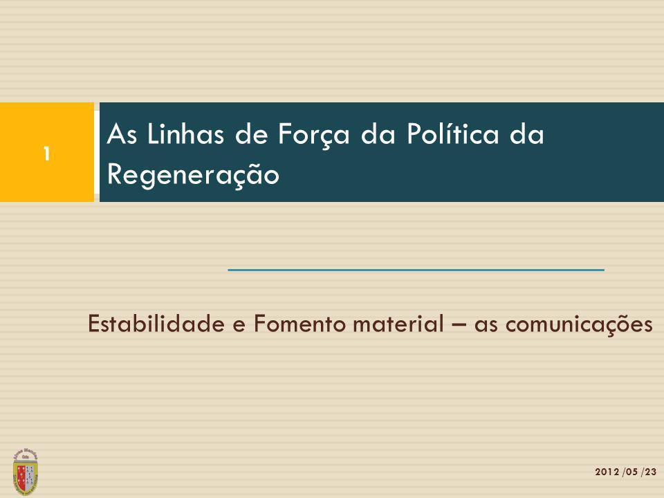 As Linhas de Força da Política da Regeneração