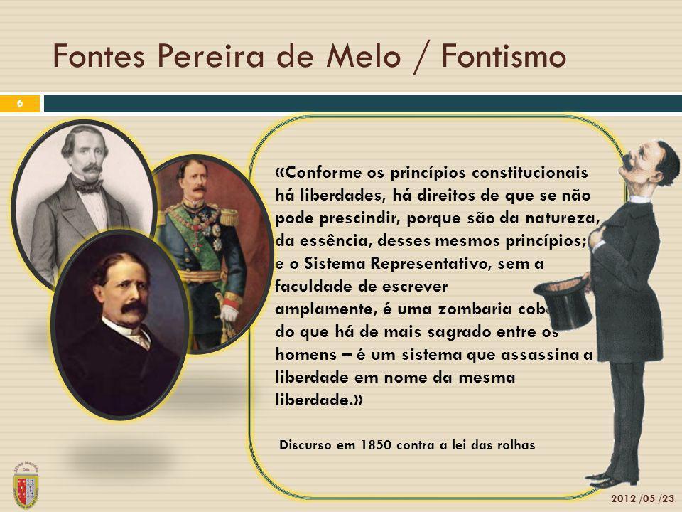 Fontes Pereira de Melo / Fontismo