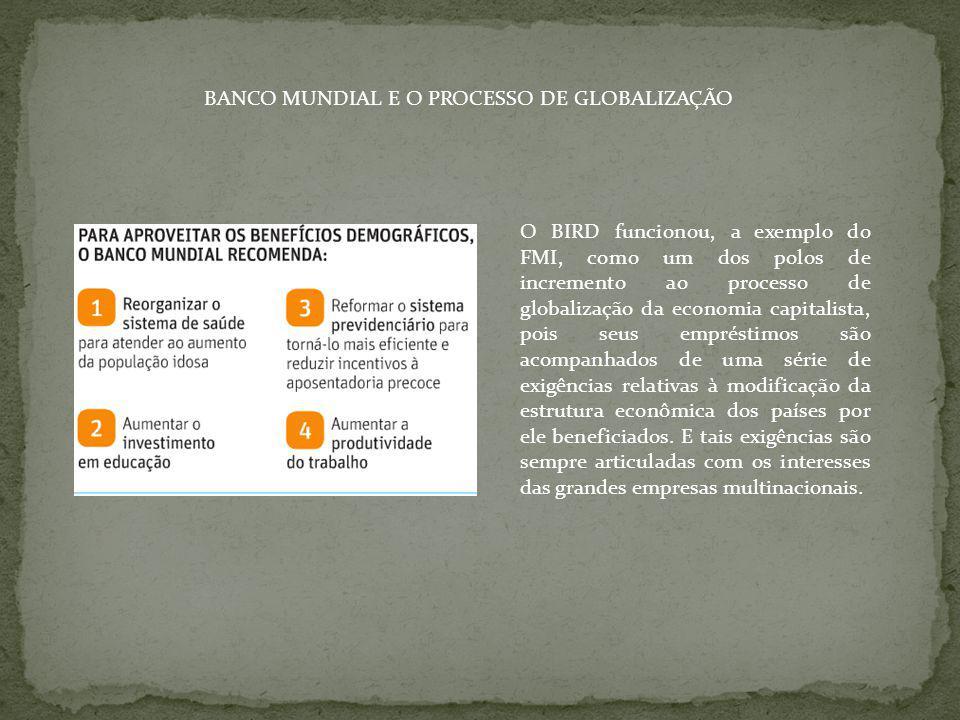 BANCO MUNDIAL E O PROCESSO DE GLOBALIZAÇÃO