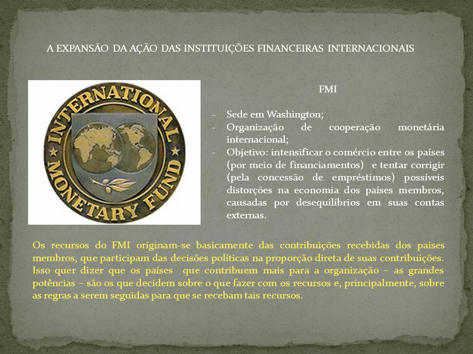 A EXPANSÃO DA AÇÃO DAS INSTITUIÇÕES FINANCEIRAS INTERNACIONAIS