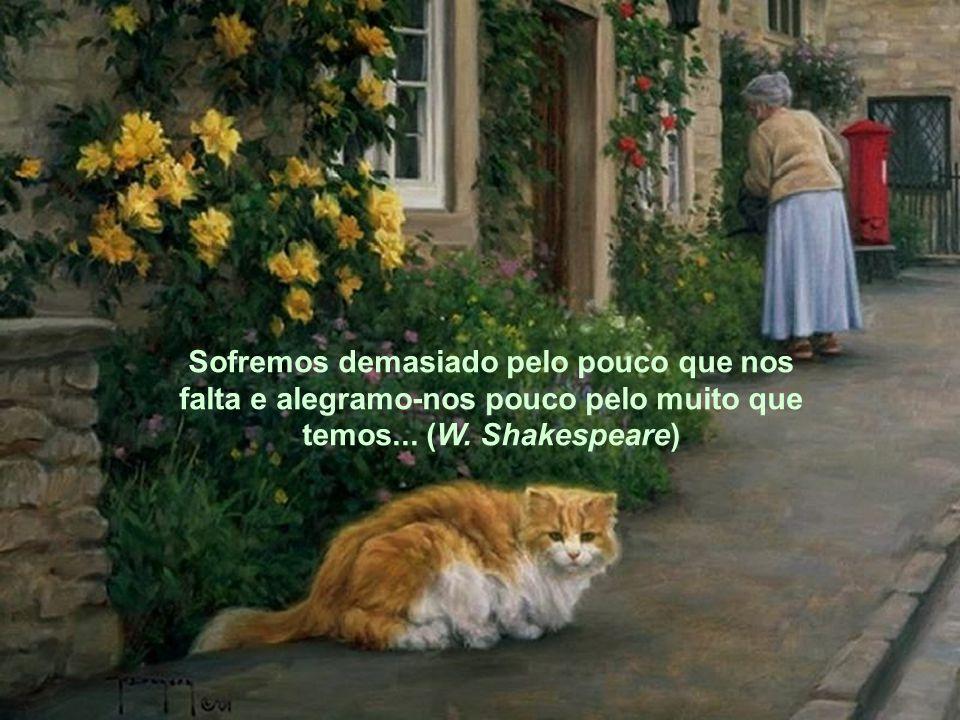 Sofremos demasiado pelo pouco que nos falta e alegramo-nos pouco pelo muito que temos... (W. Shakespeare)