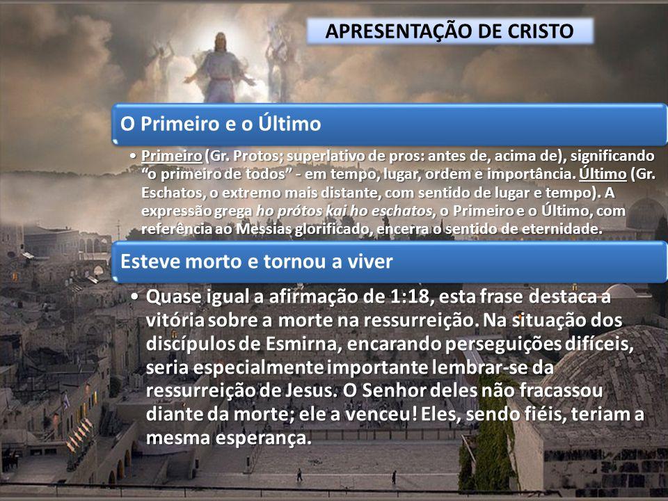 APRESENTAÇÃO DE CRISTO