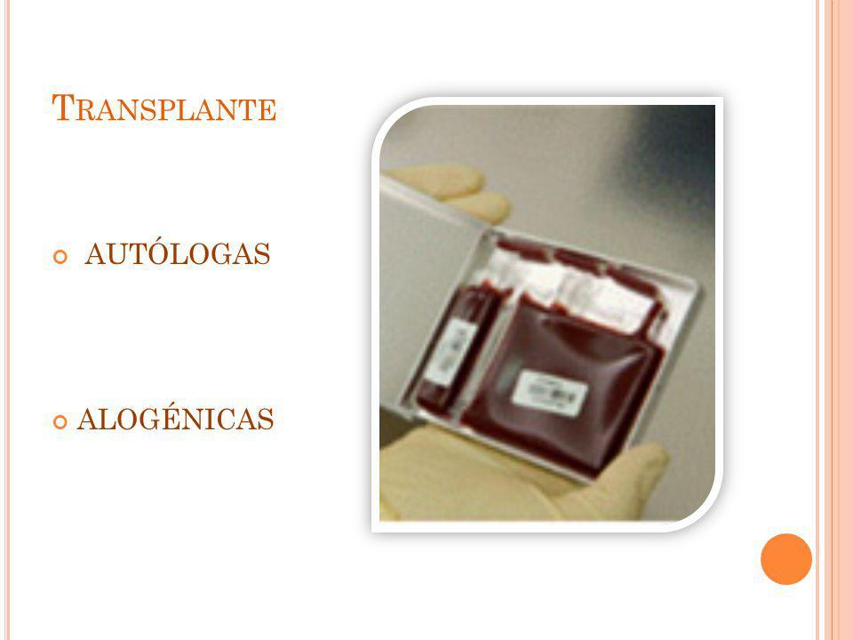 Transplante AUTÓLOGAS ALOGÉNICAS