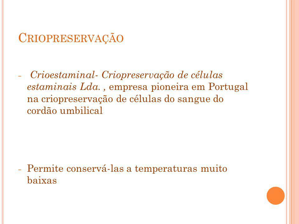 Criopreservação