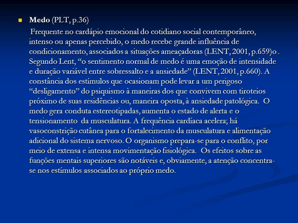 Medo (PLT, p.36)