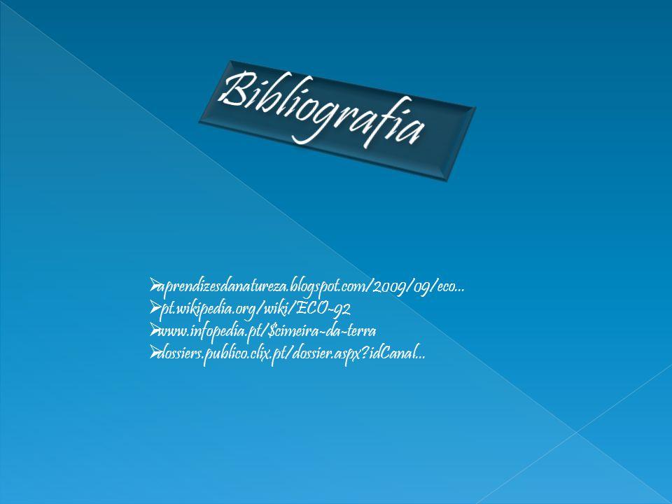 Bibliografia aprendizesdanatureza.blogspot.com/2009/09/eco...