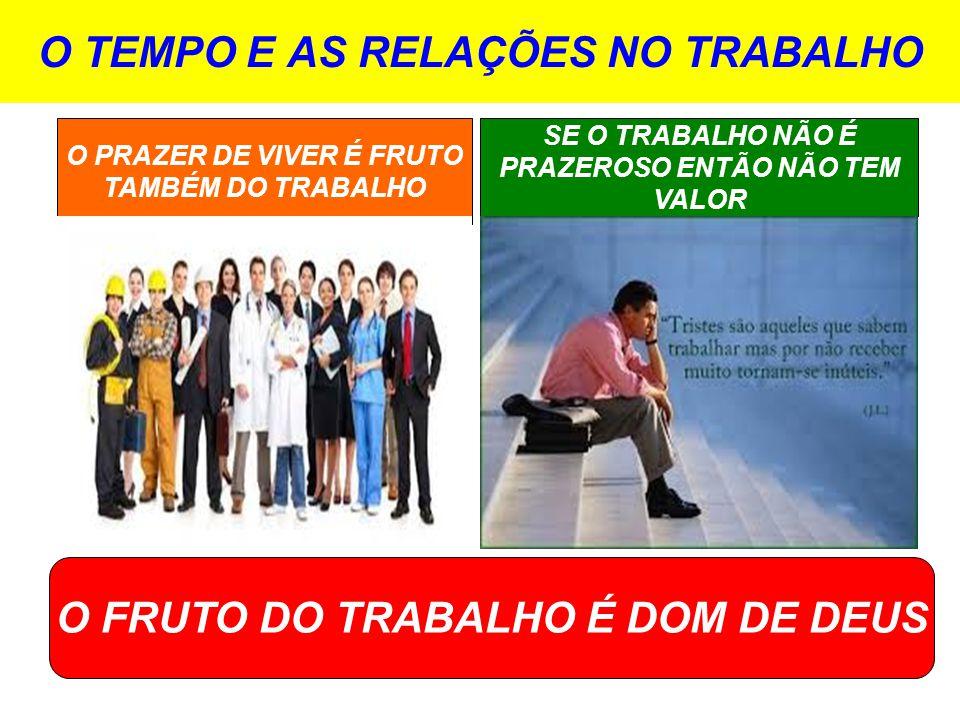 O TEMPO E AS RELAÇÕES NO TRABALHO