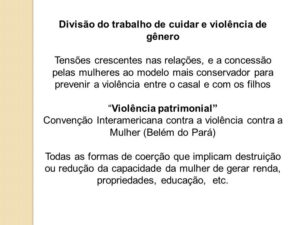 Divisão do trabalho de cuidar e violência de gênero