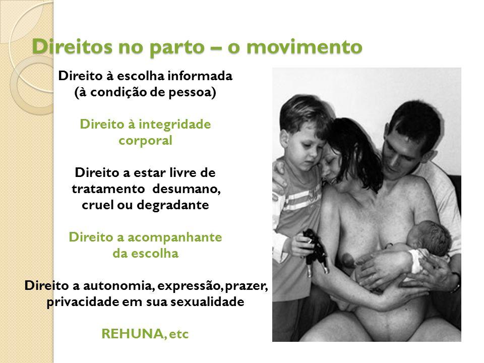 Direitos no parto – o movimento