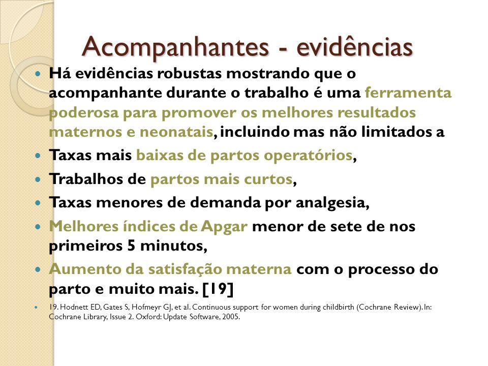Acompanhantes - evidências