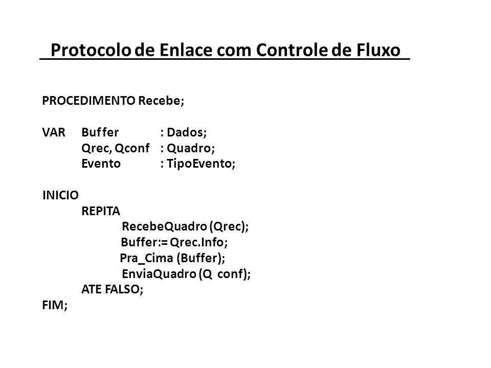 Protocolo de Enlace com Controle de Fluxo