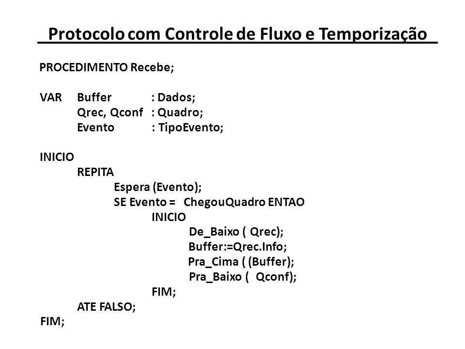 Protocolo com Controle de Fluxo e Temporização