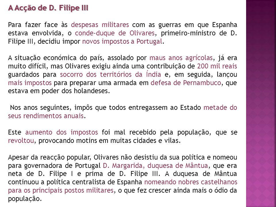 A Acção de D. Filipe III