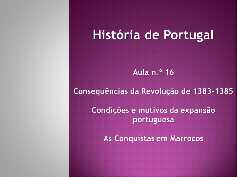 História de Portugal Aula n.º 16