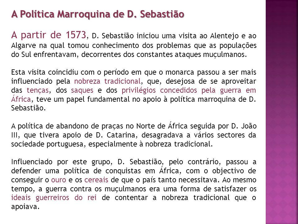 A Política Marroquina de D. Sebastião