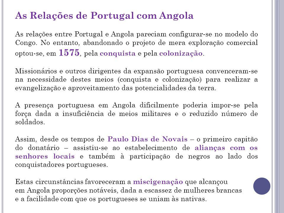 As Relações de Portugal com Angola