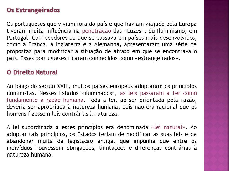 Os Estrangeirados O Direito Natural