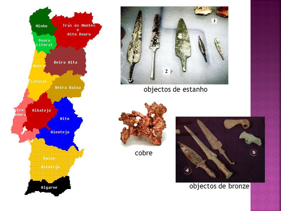 objectos de estanho cobre objectos de bronze