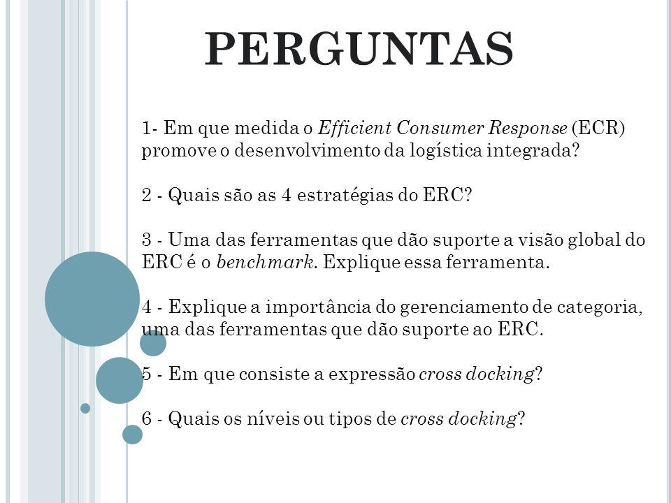 PERGUNTAS 1- Em que medida o Efficient Consumer Response (ECR) promove o desenvolvimento da logística integrada