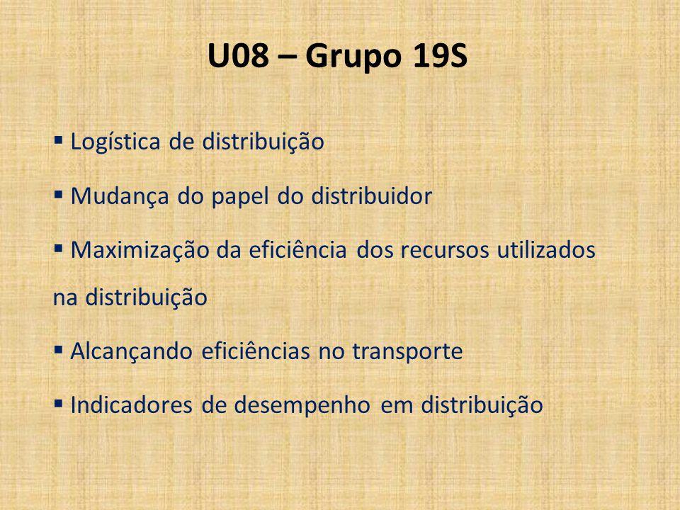 U08 – Grupo 19S Logística de distribuição