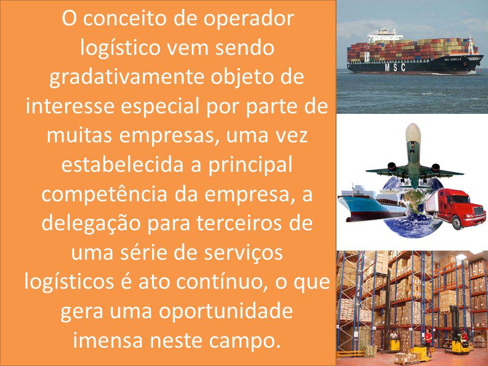 O conceito de operador logístico vem sendo gradativamente objeto de interesse especial por parte de muitas empresas, uma vez estabelecida a principal competência da empresa, a delegação para terceiros de uma série de serviços logísticos é ato contínuo, o que gera uma oportunidade imensa neste campo.