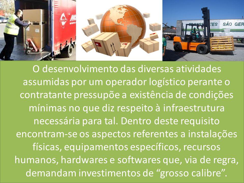O desenvolvimento das diversas atividades assumidas por um operador logístico perante o contratante pressupõe a existência de condições mínimas no que diz respeito à infraestrutura necessária para tal.