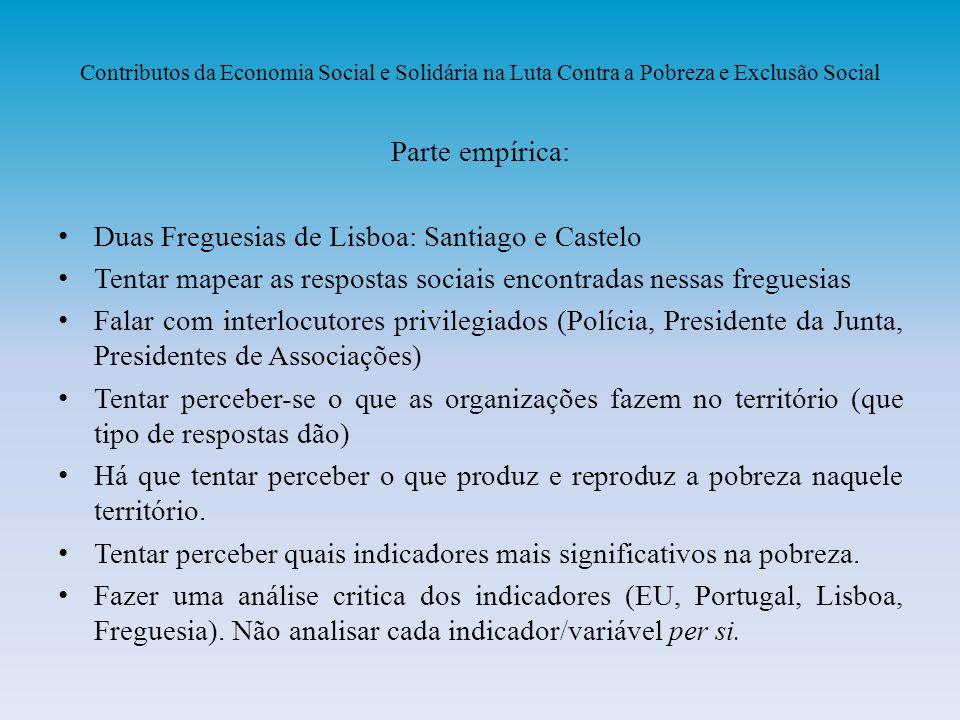 Duas Freguesias de Lisboa: Santiago e Castelo