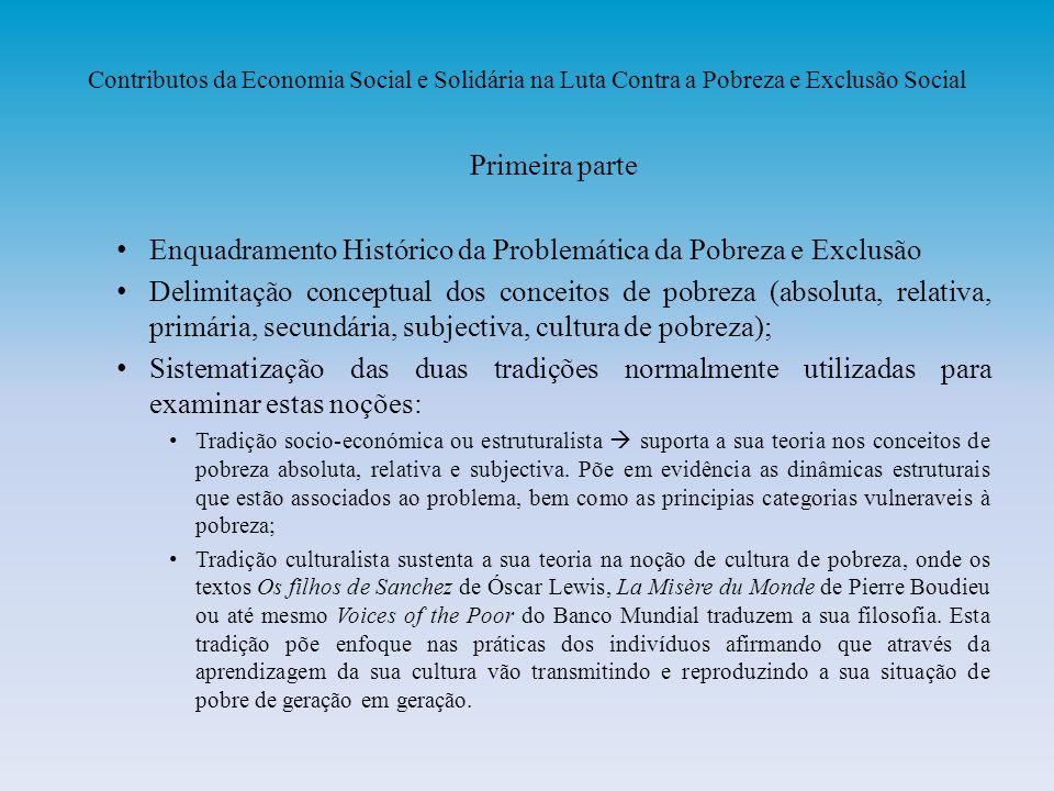 Enquadramento Histórico da Problemática da Pobreza e Exclusão