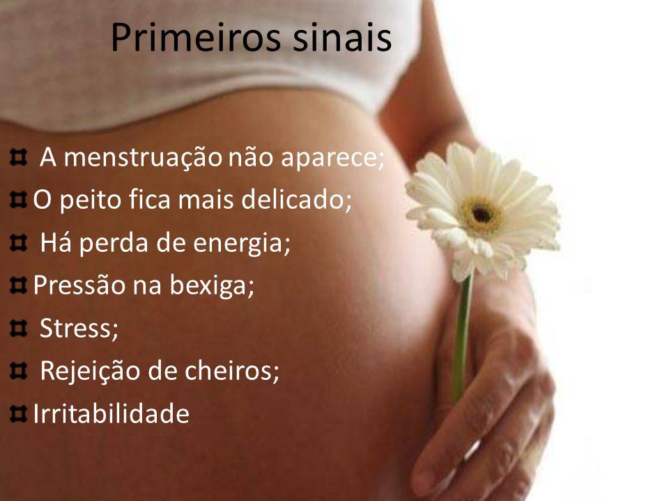 Primeiros sinais A menstruação não aparece;