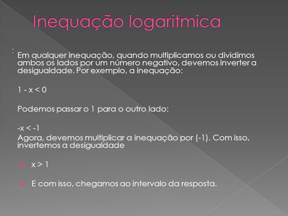 Inequação logaritmica