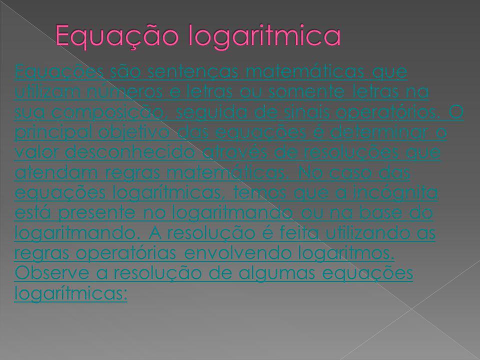 Equação logaritmica