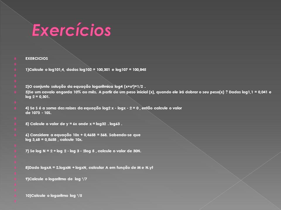 Exercícios EXERCICIOS