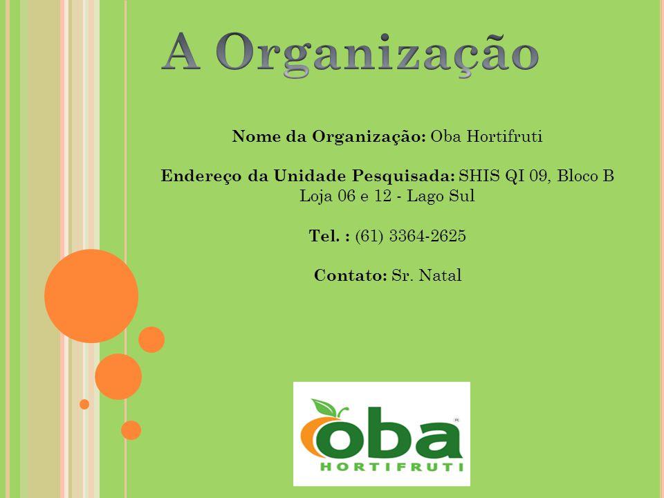 Nome da Organização: Oba Hortifruti