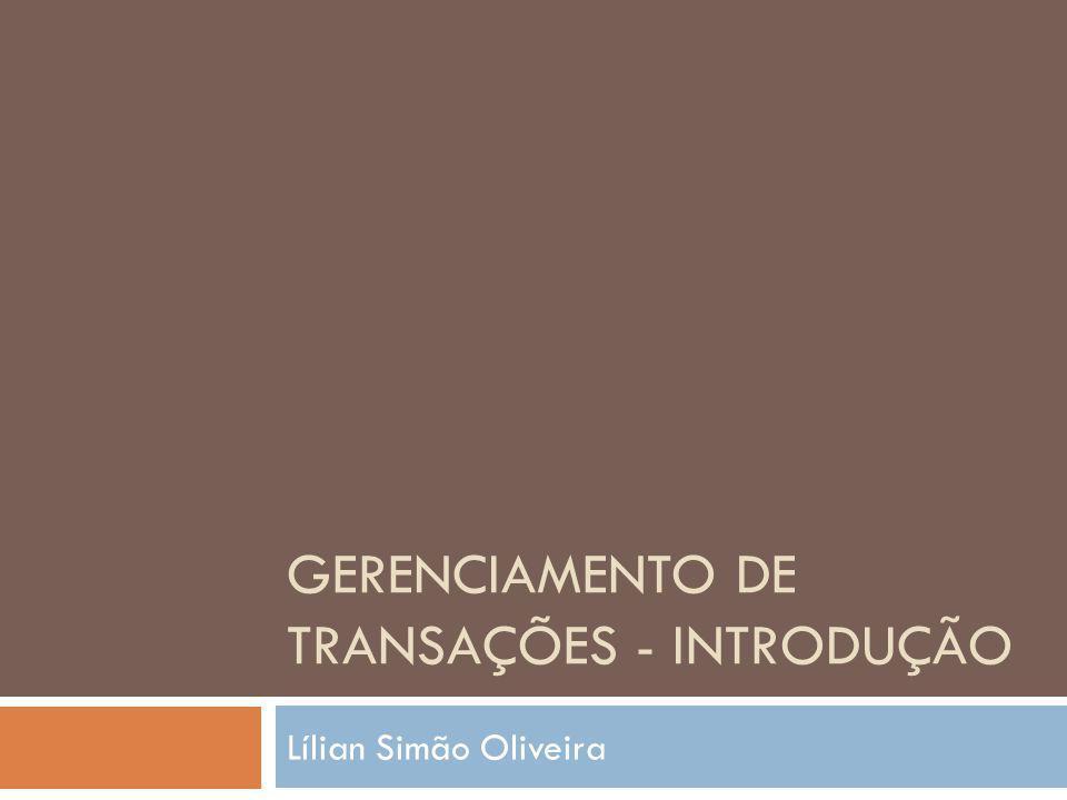 Gerenciamento de Transações - Introdução