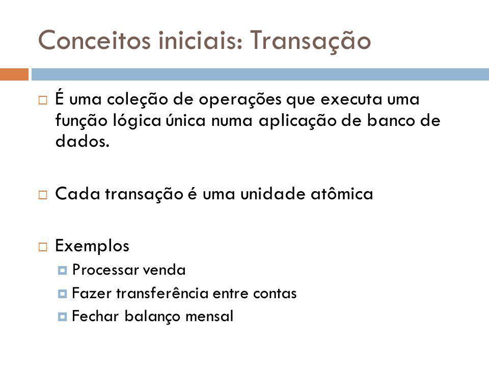 Conceitos iniciais: Transação